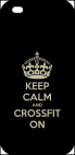 Coque compatible avec Apple iPhone 5s - KEEP CALM AND CROSSFIT ON FOND NOIR - Plastique - bord Noir