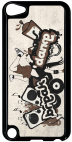 Coque compatible avec Apple Ipod Touch 5 - BREAK DANCE - Plastique - bord Noir