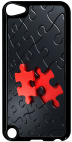 Coque compatible avec Apple Ipod Touch 5 - PUZZLE ONE PIECE RED - Plastique - bord Noir