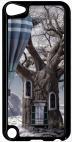 Coque compatible avec Apple Ipod Touch 5 - OLD TREE BALLON - Plastique - bord Noir