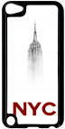 Coque compatible avec Apple Ipod Touch 5 - NEW YORK CITY EMPIRE STATE OF MIND - Plastique - bord Noir