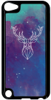 Coque compatible avec Apple Ipod Touch 5 - HYPER ANIMALS SPACE CERF - Plastique - bord Noir
